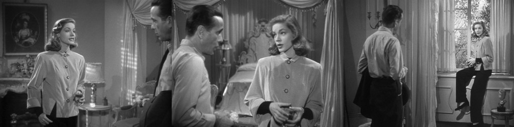 Caption: Lauren Bacall's command of movement and gesture in The Big Sleep (1946, with Humphrey Bogart).