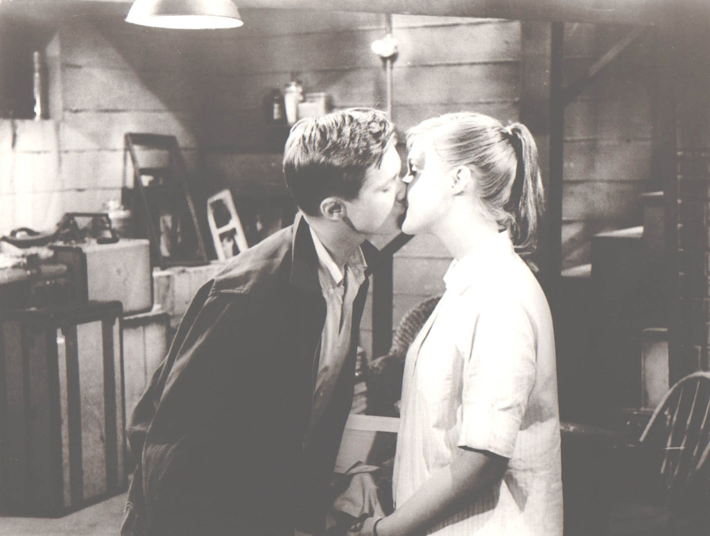 Right of passage. Arthur (Brandon De Wilde) and Janet (Carol Lynley) in their getaway in Blue Denim (1959).