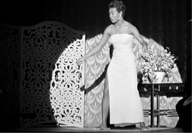 "Click to view film clip in criticalcommons.org:  ""Maya Angelou's Performance in CALYPSO HEAT WAVE (1957)"""