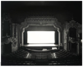 Fig. 6. Hiroshi Sugimoto. Movie Theater, Canton Palace, Ohio, 1980.