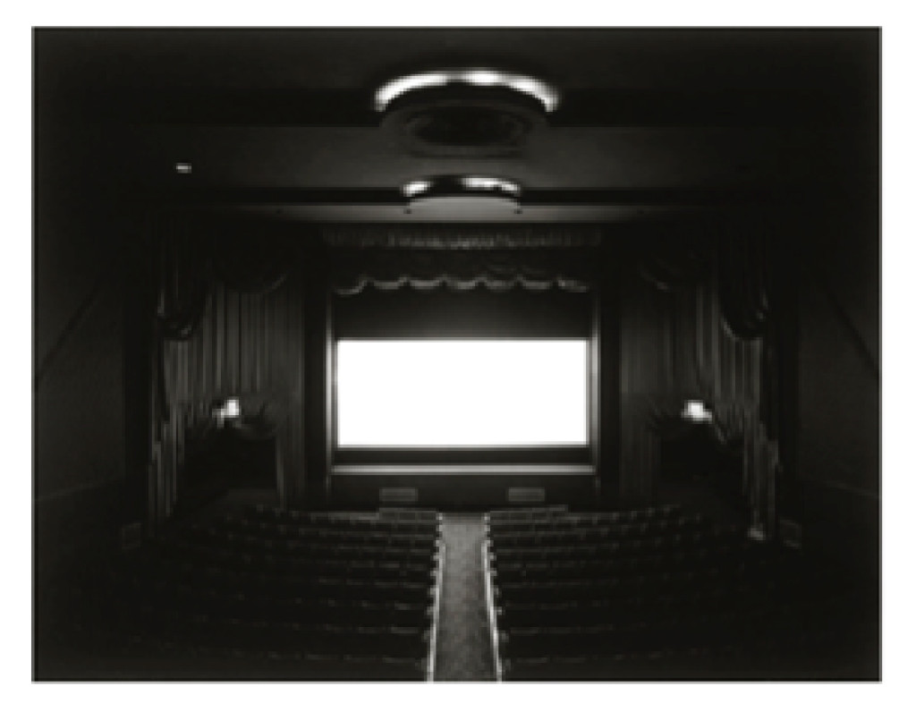 Fig. 7. Hiroshi Sugimoto. Movie Theatre, Trylon Theater, NYC, 1976.