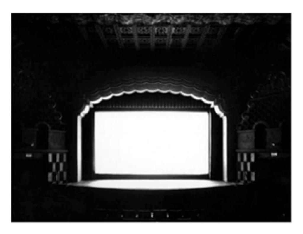 Fig. 8. Hiroshi Sugimoto. Movie Theater, 1979.