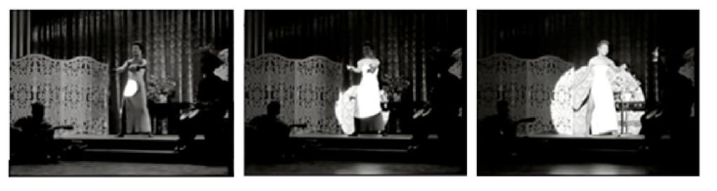 Figs. 1-3 Spotlight projecting on Maya Angelou. Calypso Heat Wave. 1957.
