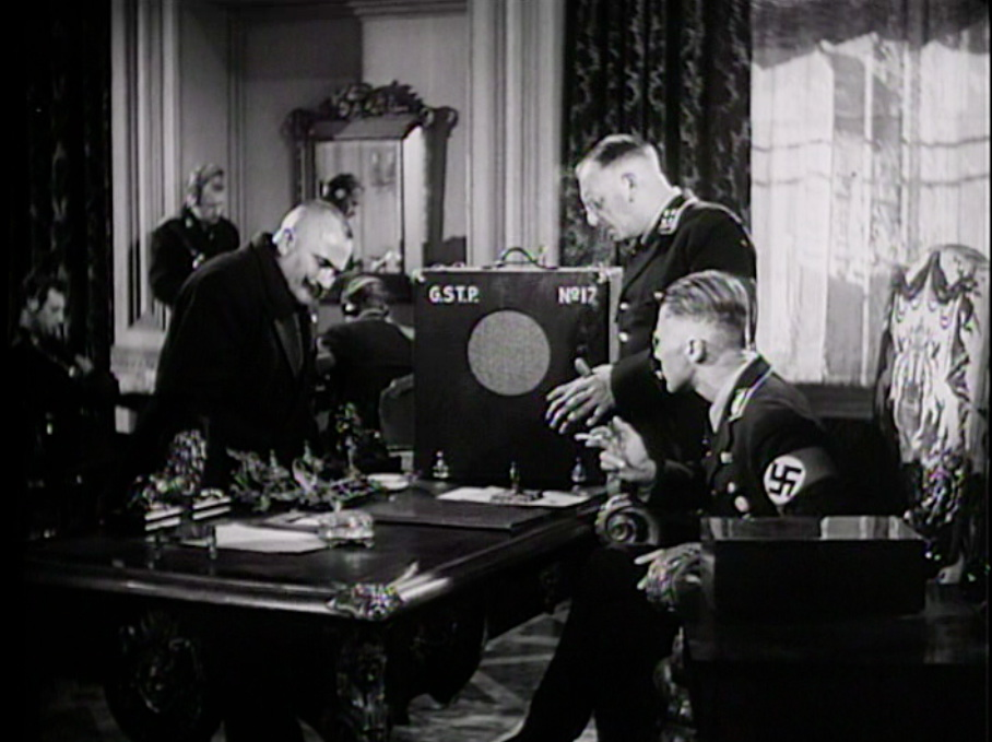 Fig 7: Nazis listening in on the love story, disappointed.