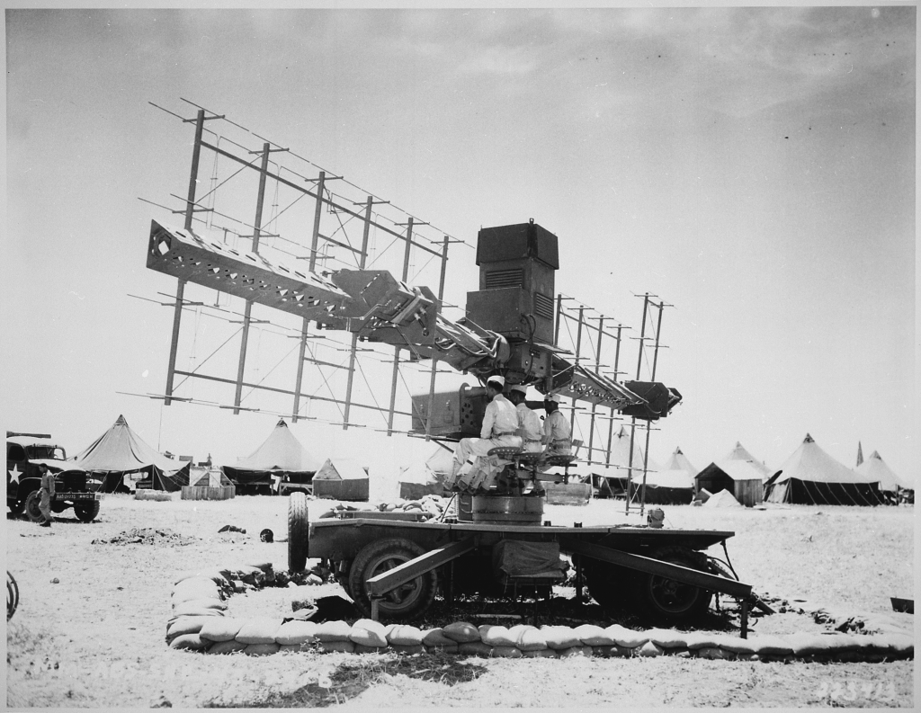 Fig 3: An SCR-268 radar unit outside of Casablanca in 1943. Source: NARA