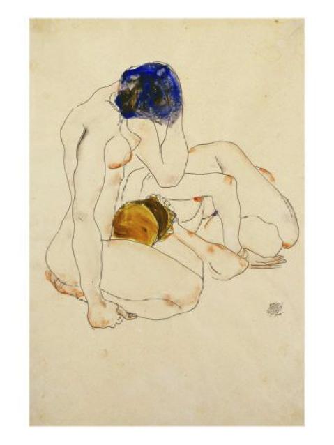Figure 3: Egon Schiele, <em>Zwei Freundinnen</em> (1912)