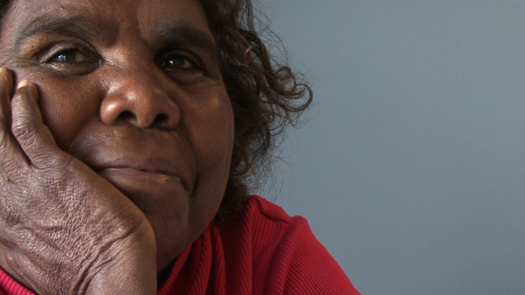 Marlene Nampitjinpa Spencer from the film interview, Alice Springs, 2013.  Photo credit:  Pip Deveson