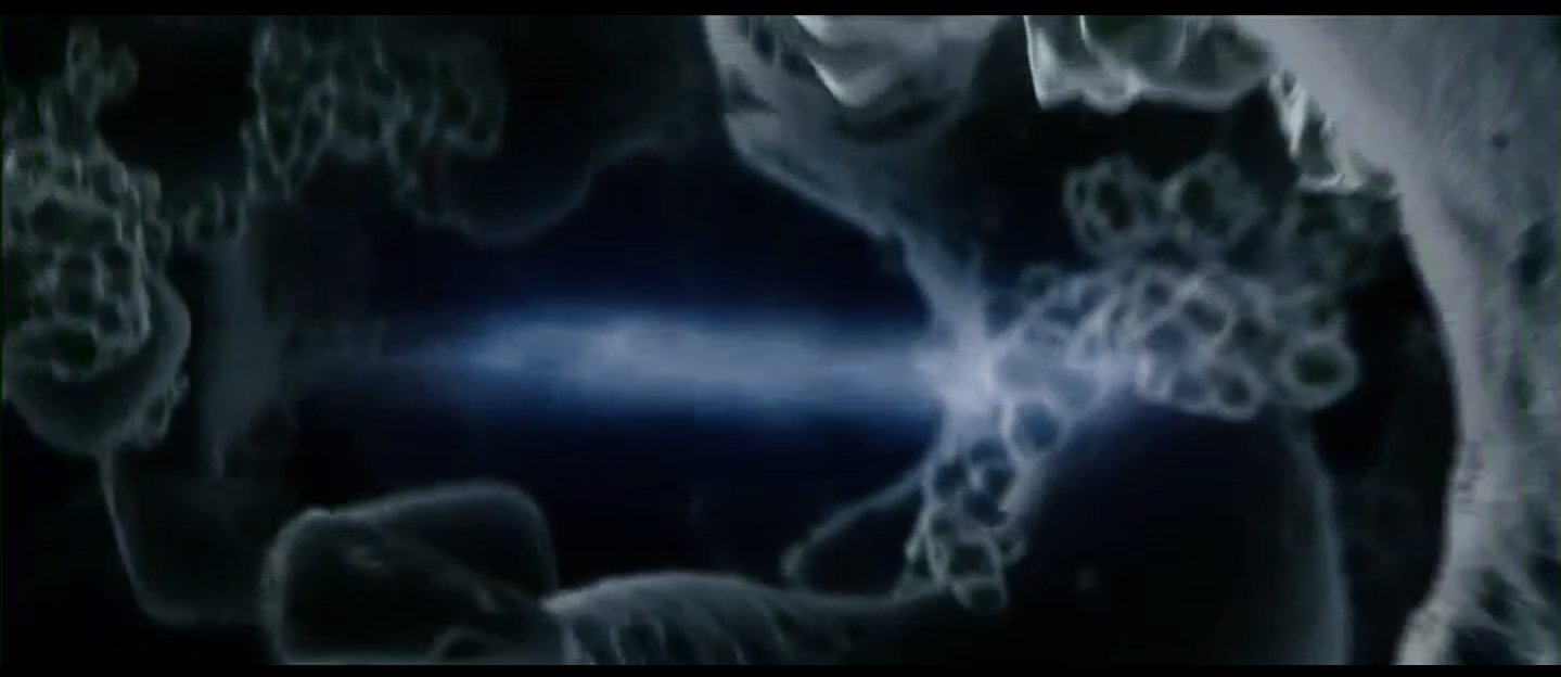 Figure 3: The unfamiliar textures of Jack's brain in Fight Club's opening sequence
