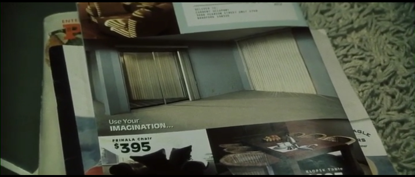 Figure 5: The IKEA-sequence in Fight Club invites our sense of touch.